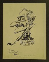 Image of Self-caricature - Kallaugher, Kevin (Kal), 1955-